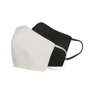 Masque Lavable Réutilisable 2 couches Blanc pour protection maximale