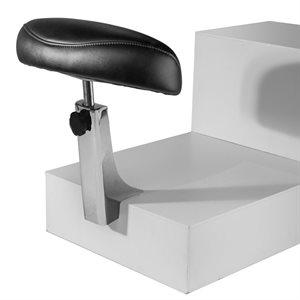 Belava Mounting Foot Rest Chrome coating - Black Upholstery +