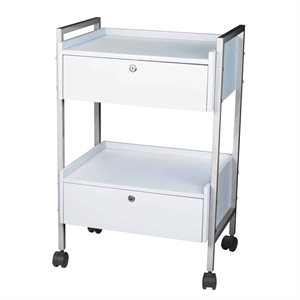 TROLLEY 2 SHELVES AND 2 DRAWERS CH