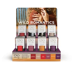 CND Shellac POP Display Collection Wild Romantics (Products Included)