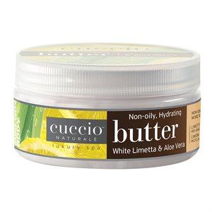 Cuccio mezcla de mantequilla Aloe y Limón blanco 8 oz
