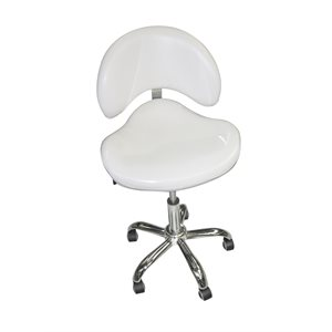 WHITE CHAIR WITH BACK DP 9951