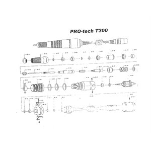 Arandela negra para la Fresa Pro 300 - B24