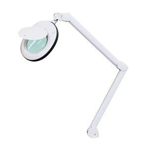 Lampe Loupe LED 3 dioptries avec contour en caoutchouc