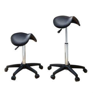 Black stool Saddle Style without back rest # 883 +